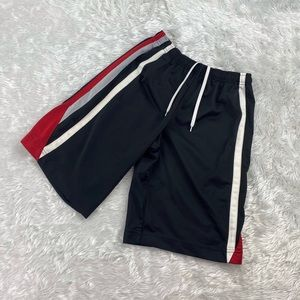 Nike - boy's red black and white sport shorts